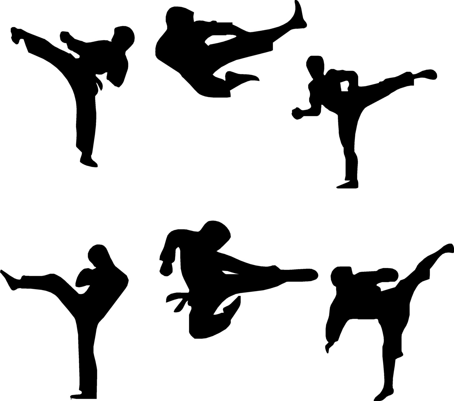 1500x1326 Free Karate Silhouette Cliparts, Hanslodge Clip Art Collection