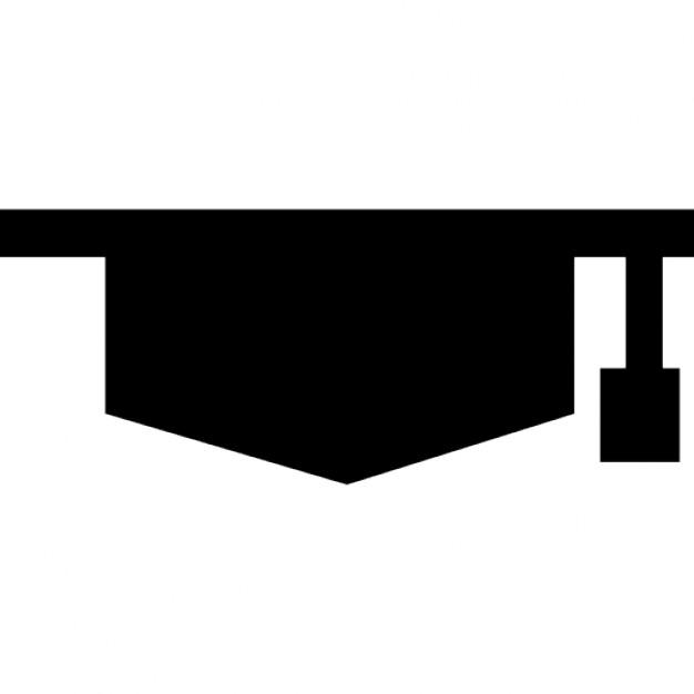 626x626 Graduation Cap Silhouette Icons Free Download