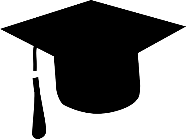 600x449 Grad Cap Silhouette