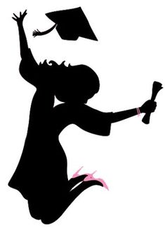 235x324 Graduation Graduate Silhouette Cap Gown Classroom Clipart