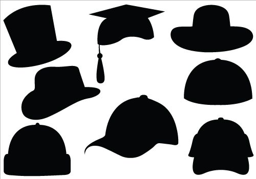 500x350 Hat Silhouette Vector Clipart