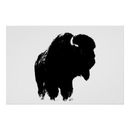 260x260 Black White Buffalo Art, Posters Amp Framed Artwork Zazzle.co.nz