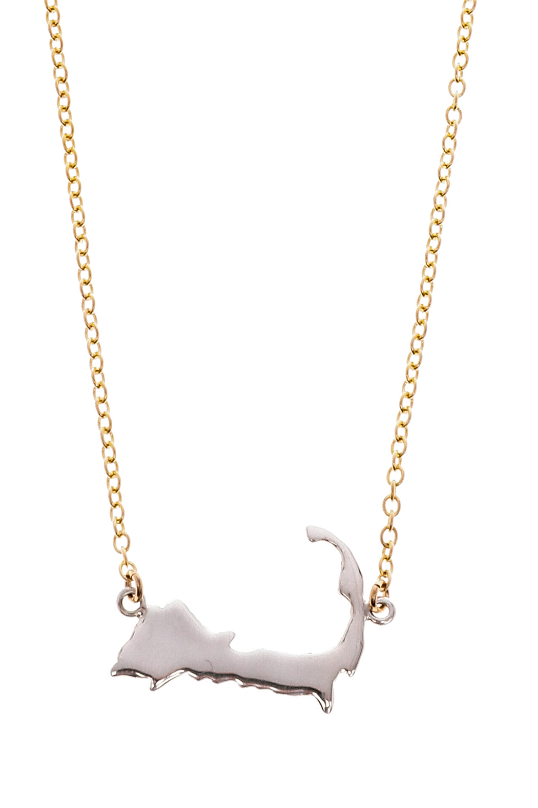 1050x1575 Jewelry Studio Of Wellfleet Two Toned Silhouette Necklace