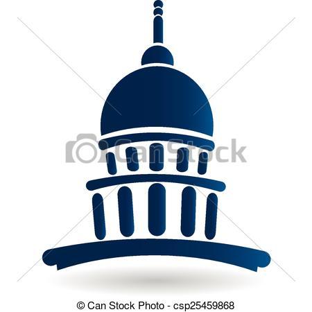 450x450 Capitol Building Temple Icon Logo Vector Design Clip Art Vector