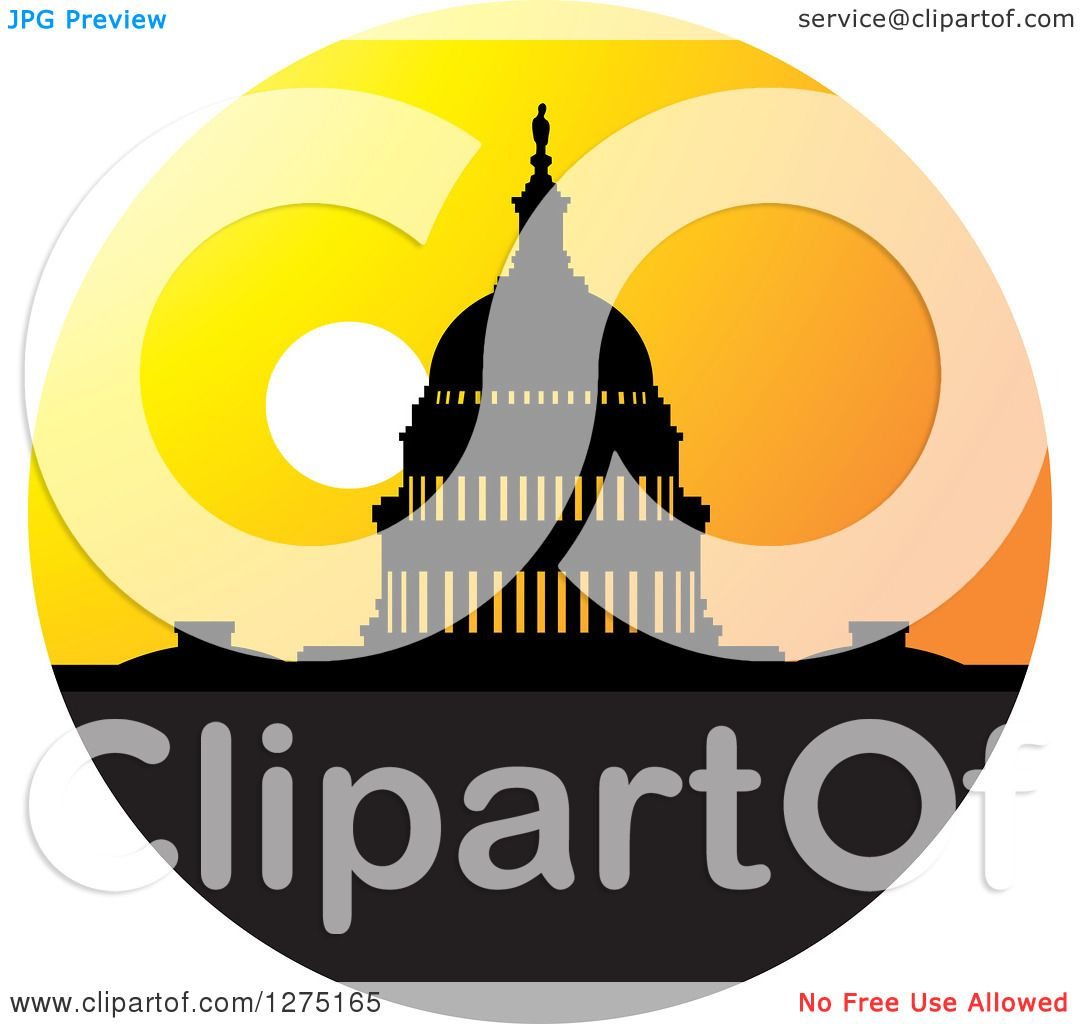 1080x1024 Clipart Of A Silhouetted Capitol Building