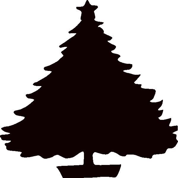 600x600 Black Christmas Tree Silhouette Clip Art