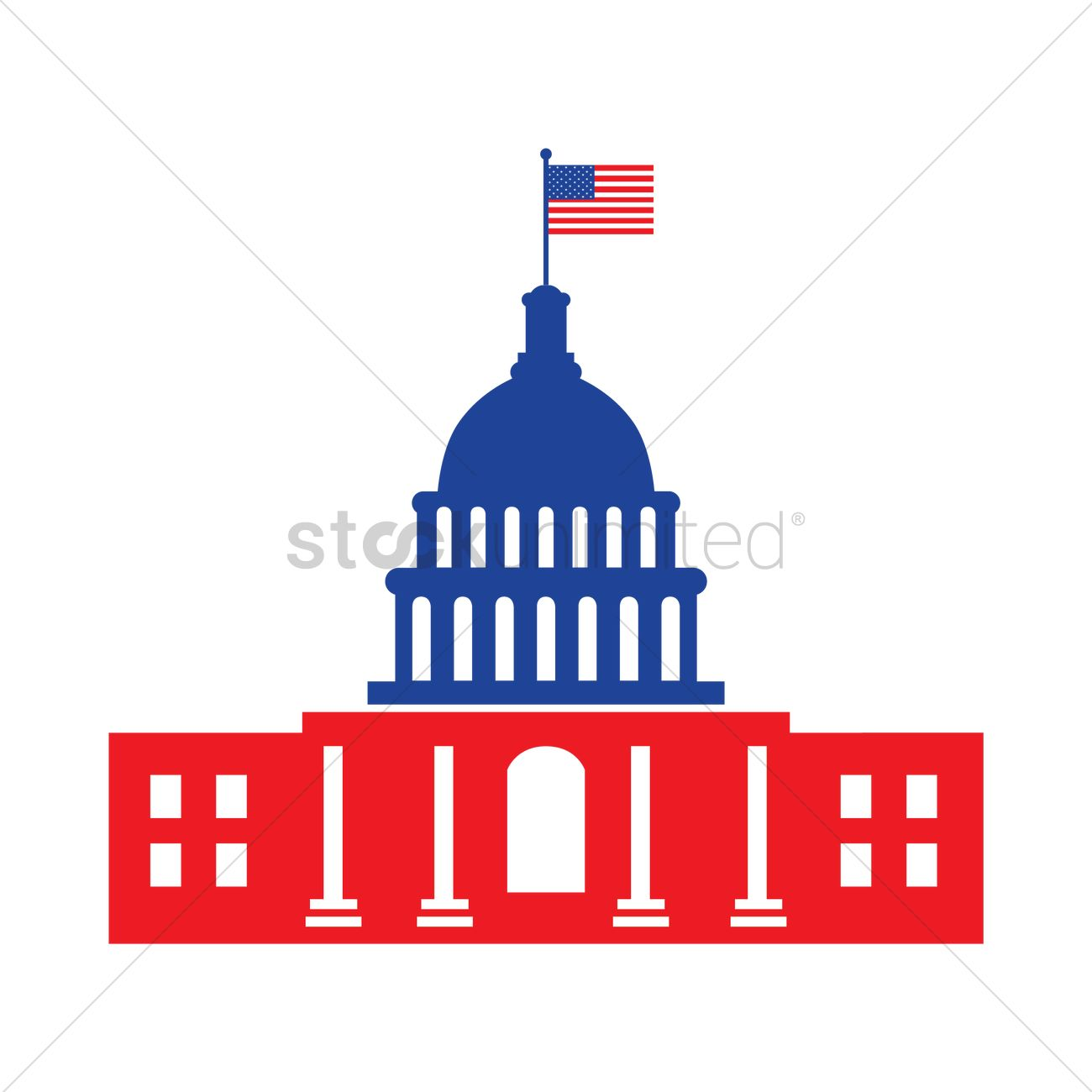 1300x1300 United States Capitol Vector Image