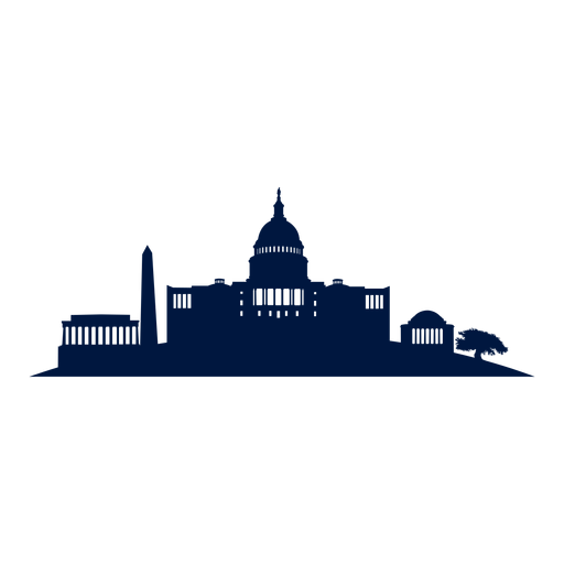 512x512 Washington Dc Skyline Cityscape Silhouette Png Image. Download As