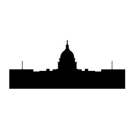 270x270 Capitol Building Silhouette Stencil Free Stencil Gallery