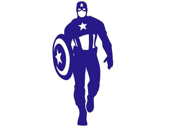 570x428 Captain America Silhouette Paper Ephemera Stencil By Rinipapercuts