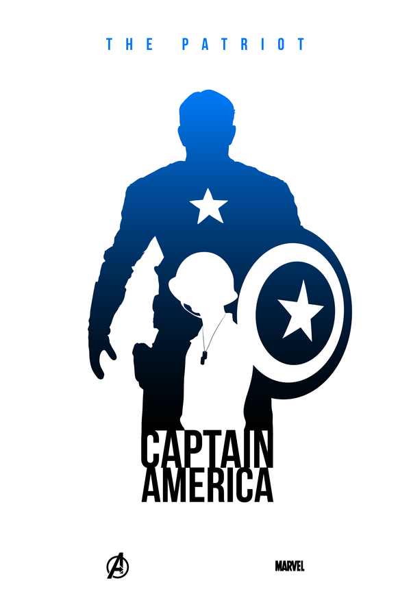 600x889 Captain America Silhouette By Kevin Collert Marvel Characters