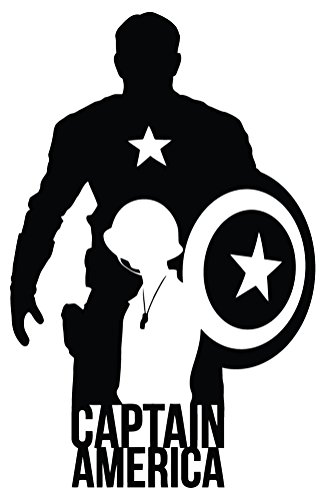 327x500 Captain America The Movie Silhouette Car Truck Window Laptop