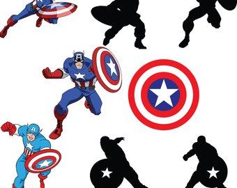 Captain America Silhouette at GetDrawings | Free download