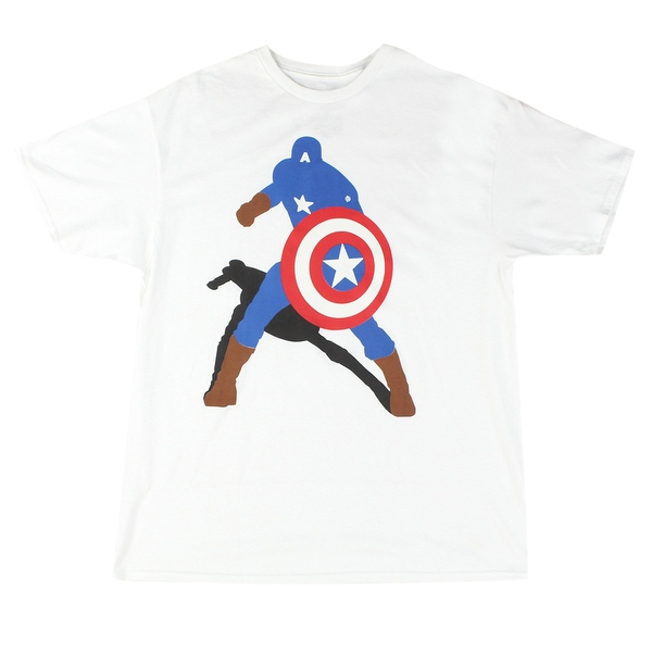 600x600 Marvel Captain America Silhouette Men's White T Shirt