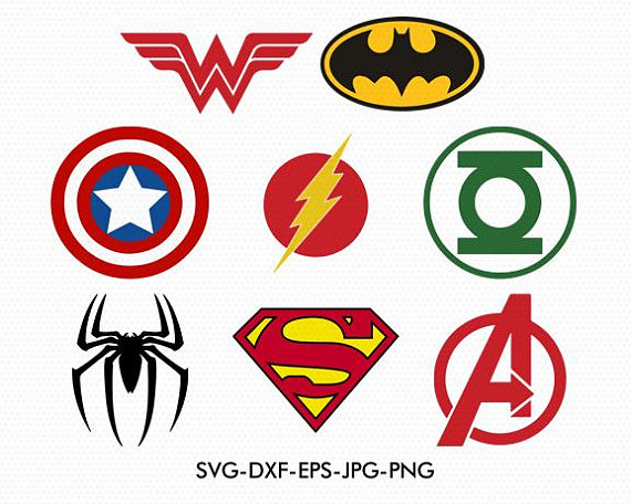 570x456 Super Heroes Logos Svg, Captain America Svg, Superman Svg