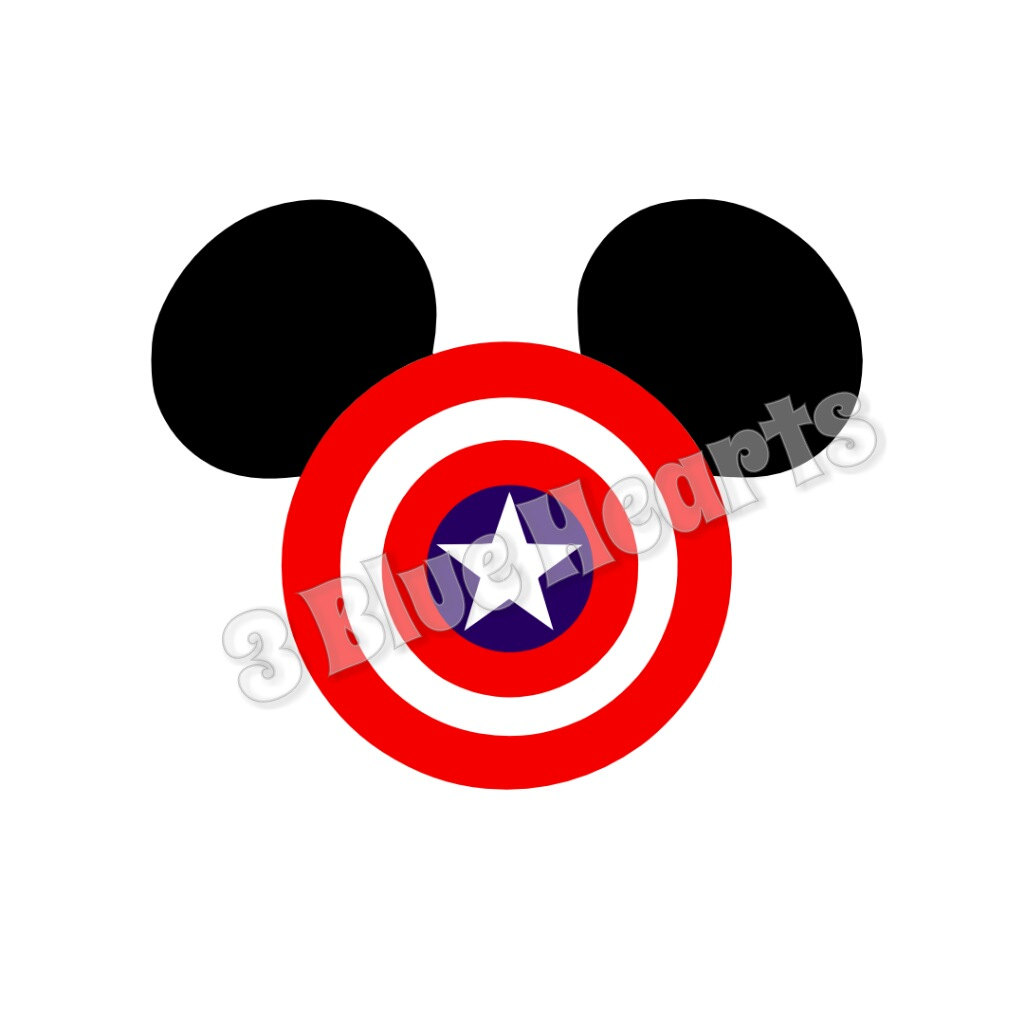 1024x1024 Captain America Mickey Head Svg Dxf Pdf Studio, Captain America