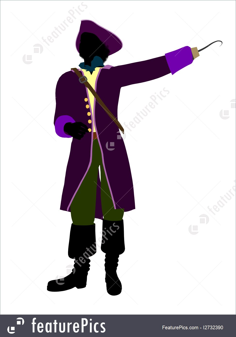 974x1392 People Captain Hook Silhouette