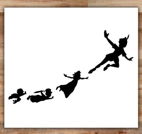 474x447 Peter Pan Shadow Tattoo Ideas Peter Pan Shadow