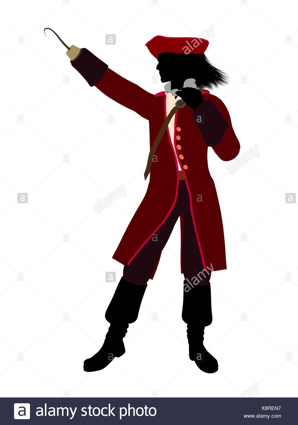 captain hook silhouette at getdrawings  free download