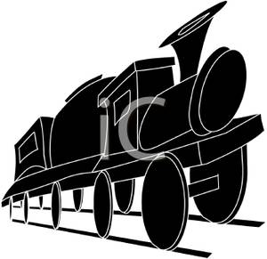 300x291 Silhouette Of A Train Engine Sitting On A Railway Line