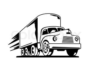 320x239 Vector Set Of Silhouettes The Cargo Trucks. Stock Vector Colourbox