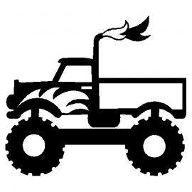 270x270 Monstertruck Silhouette Cameo Projects Silhouettes