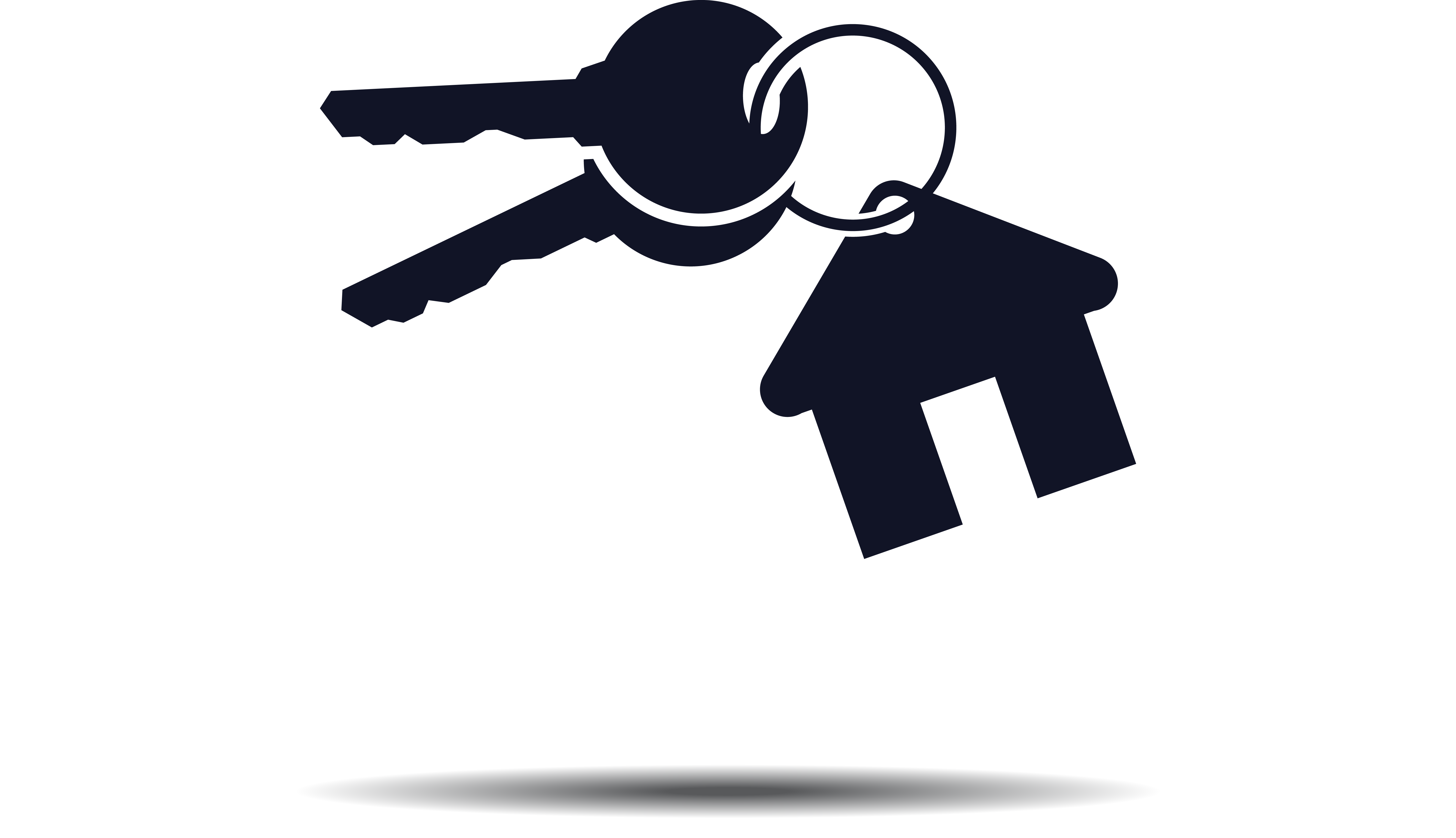 5965x3435 House Key Logo Real Estate