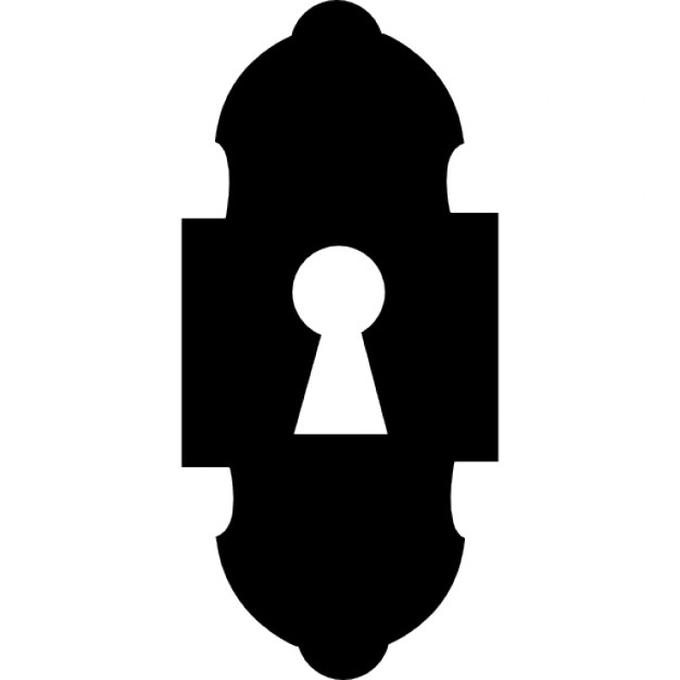 626x626 Keyhole Design Variant Silhouette Icons Free Download