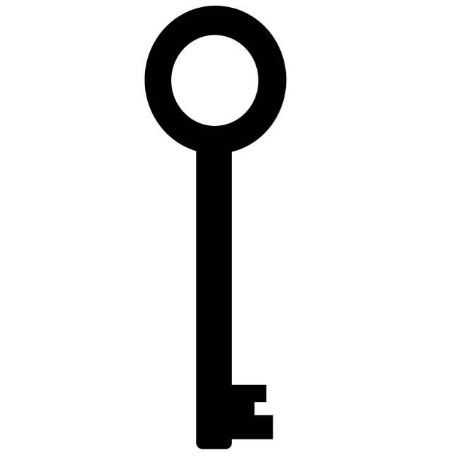 660x660 Silhouette Of A Key