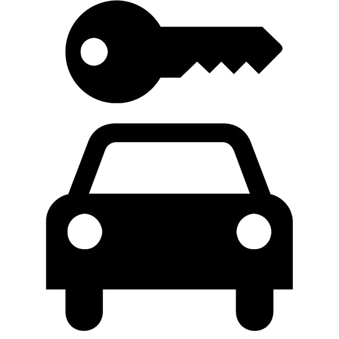 660x660 Car Rental Vector Sign