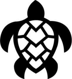 246x267 Hawaiian Turtle Hawaii Wii Decal Car Anime Sticker