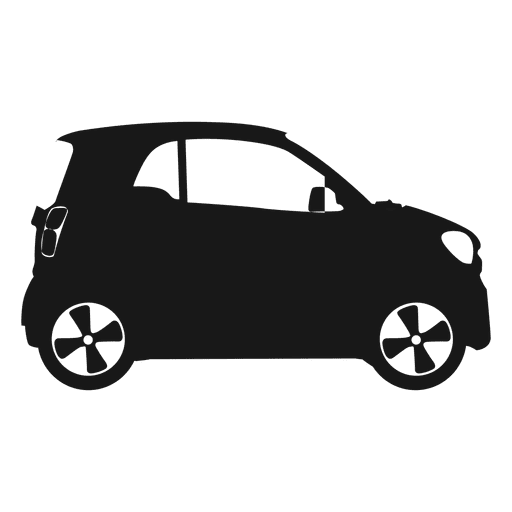 512x512 Smart Car Side View Silhouette