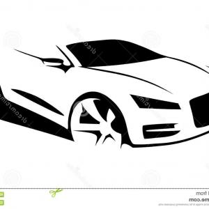 300x300 Stock Illustration Car Silhouette Vector Side View Image