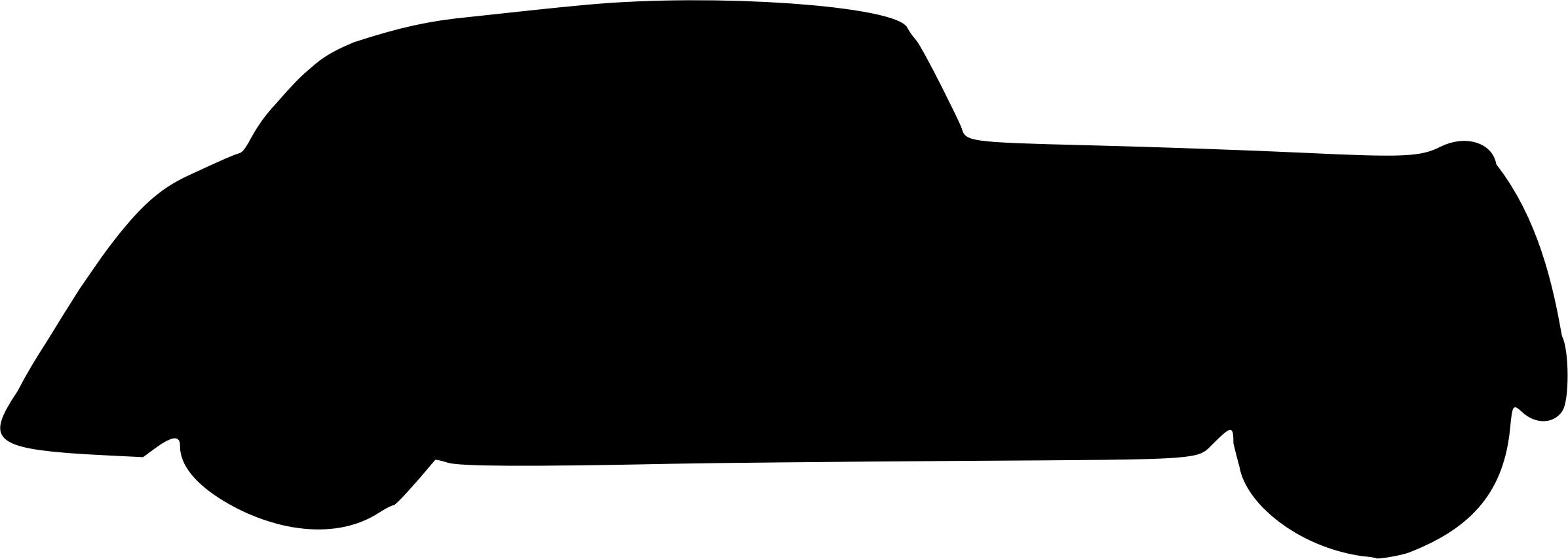 2393x854 Car Silhouette 4 Icons Png