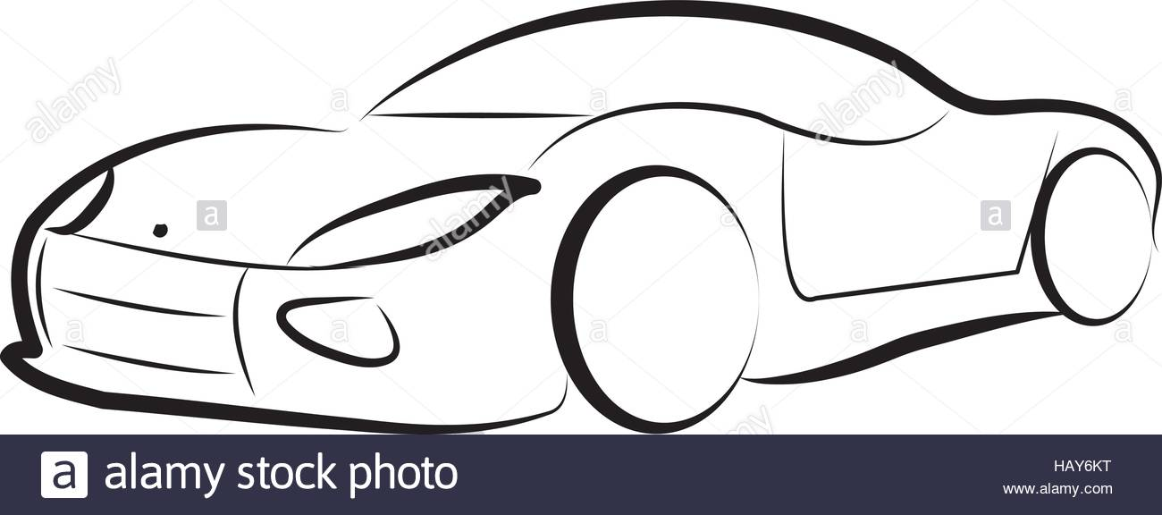 1300x576 Car Silhouette Logo Sketch Vector Stock Vector Art Amp Illustration