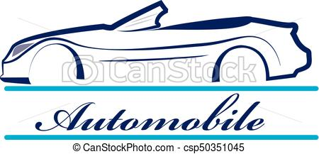 450x217 Car Silhouette Icon Logo. Car Silhouette Vehicle For Race Eps