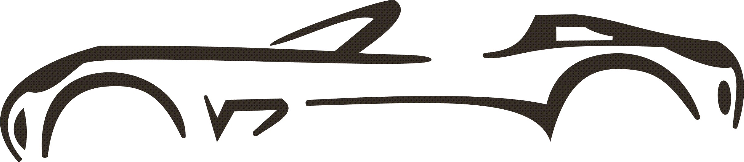 2416x526 Simple Side Of Car Silhouette Clipart By Z Car Cliparts