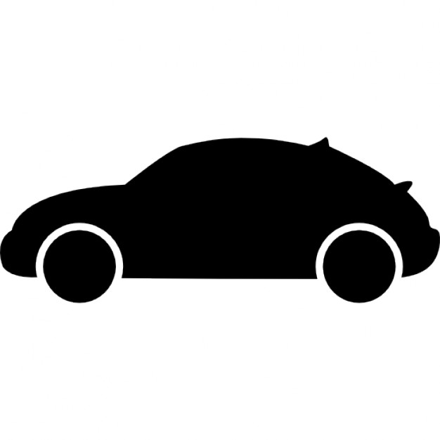 626x626 Hatchback Car Variant Side View Silhouette Icons Free Download
