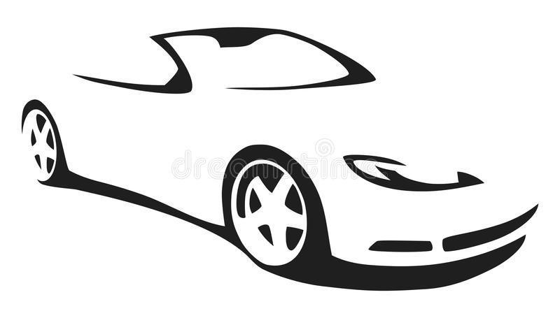 800x455 Sports Car Silhouette Clipart