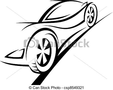 450x362 Silhouette Of Sport Car For Racing Sports Design Vector Clip Art