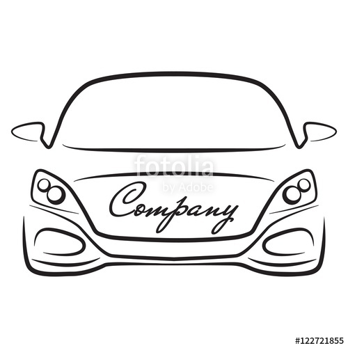 500x500 Car Silhouette Vehicle Auto Dealer Company Logo Icon Stock Image