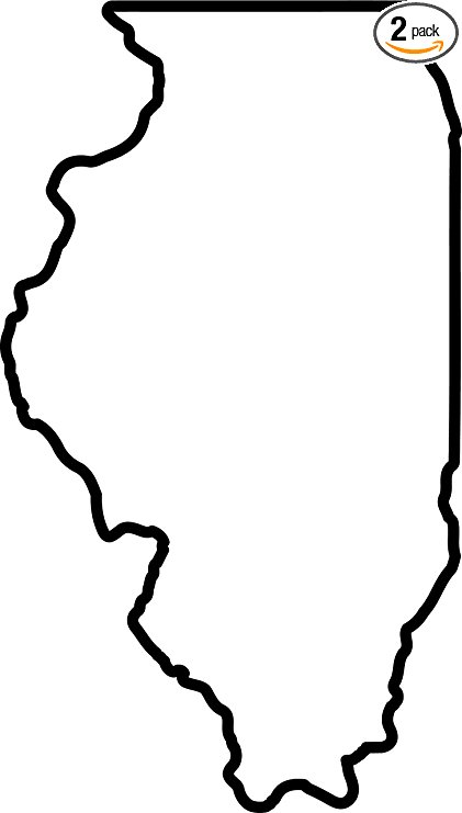 421x741 Angdest Illinois Map Outline Black (Set Of 2