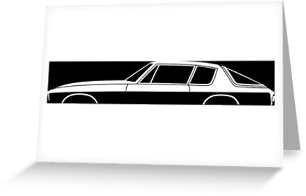 441x283 Car Silhouette For Jensen Interceptor Enthusiasts Greeting Cards