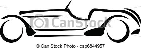450x156 Car Silhouette. Car Silhouette On White Background Vector. Vectors