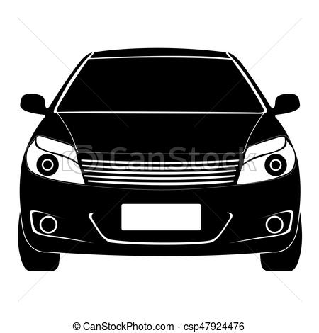 450x470 Isolated Car Silhouette. Isolated Silhouette Of A Car, Vectors