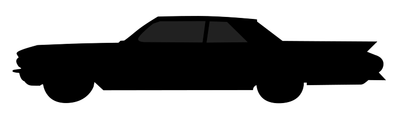 800x241 Old Car Silhouette Free Vector 4vector