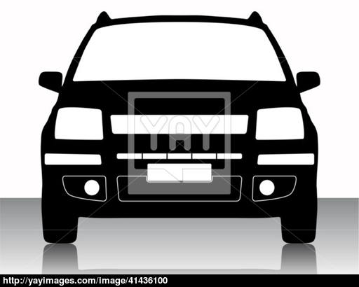 512x410 Vector Illustration Of Car Silhouette Vector