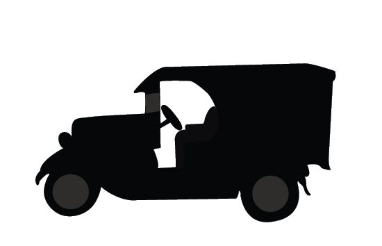 550x354 Vintage Classic Cars Silhouette Vector Car Silhouette, Vintage