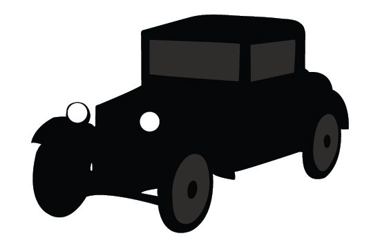 550x354 Old Car Silhouette Vector Free Download Vintage Vector Vehicle