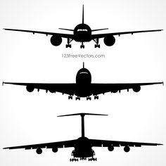 236x236 Airplane Silhouette Vector Free Download Silhouette Clip Art